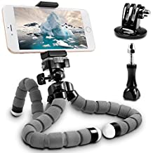 Flexible Tripod,SENHAI Professional Light Weight Camera Support for Smartphone,Sports Camera,Webcam to Mount on Uneven Surfaces, Tree Branches, Poles etc.(Gray,Large size)