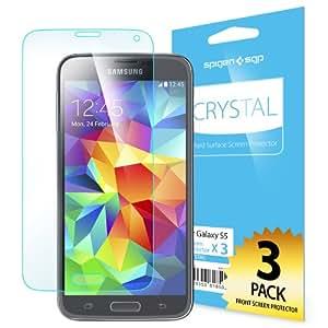 Spigen Film Crystal CR - Protector de pantalla para Samsung Galaxy S5, transparente