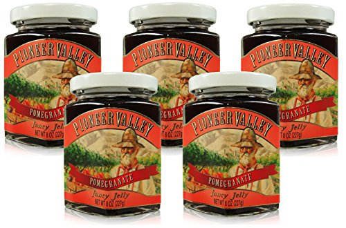 Pioneer Valley Gourmet Pomegranate Jelly 8 oz. - 5 pack by Pioneer Valley