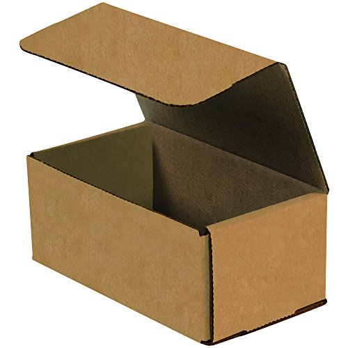 - Boxes Fast BFM743K Corrugated Cardboard Mailers, 7 x 4 x 3 Inches, Tuck Top One-Piece, Die-Cut Shipping Cartons, Small Brown Kraft Mailing Boxes (Pack of 50)