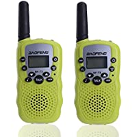 Walkie Talkie for Kids, Imurz-T3 Child Handheld Walkie Talkie, 22 Channel FRS/GMRS Two-Way Radio Transceiver For kids & Youth, Outdoor Radios(2 PCS Fluorescent green)