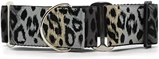 "product image for Diva-Dog 'Midnight Leopard' 2"" Chainless Martingale Dog Collar"