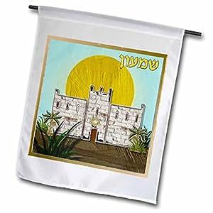 Lee Hiller Designs Judaica - 12 Tribes of Israel Art Print Simeon - 12 x 18 inch Garden Flag (fl_107266_1)