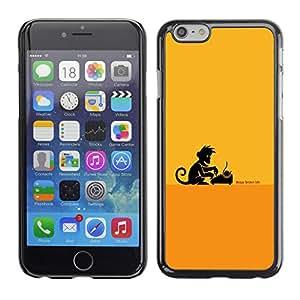 EJOY---Cubierta de la caja de protección la piel dura para el / Apple Iphone 6 Plus 5.5 / --Escritor Monkey Business
