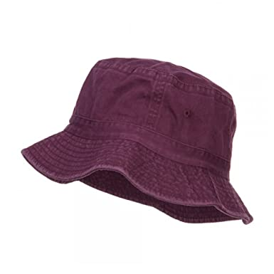 10ba1aabd88ce7 Cameo Pigment Dyed Bucket Hat-Burgundy -OSFM at Amazon Men's ...