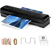 Fivanus Thermal Laminator A3 A4 Lamination Machine 2 Rollers with 250mm/min Quick Warm-up Laminating Speed, 340mm 13 Max Width, 3 mil to 5 mil, 10 Photo Peg Clips + 10 Laminating Pouches