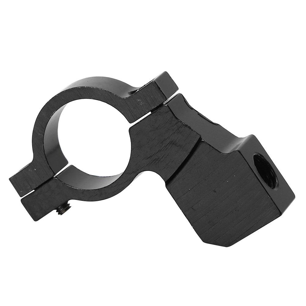 Supporti per manubrio in bicicletta Durabile lega di alluminio Specchio retrovisore Montaggio connettore Colore : Nero