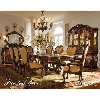 11 Pc Palais Royale Rectangular Dining Table Set By AICO   Rococo Cognac    35