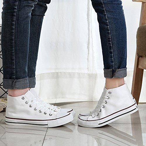 Chaussure Basket Classique Unisexe Femme Tennis Sneakers wealsex Plate Décontracté Toile Homme P6g67q