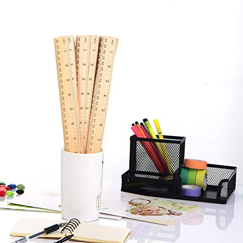 Betan 30 Pack Wooden Rulers Student Rulers Wood School Rulers Measuring Ruler Office Rulers,2 Scale,30 cm and 12 inch by Betan (Image #6)