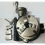 """HV6 Rotary Table (150 mm -6"""" Inches)+125 mm 3 jaws self centering chuck"""