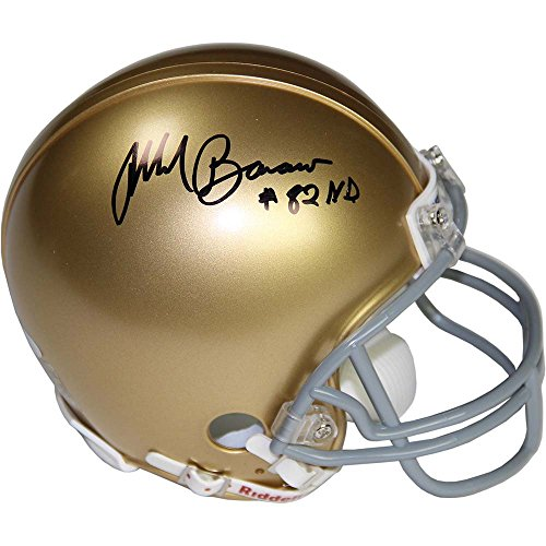 NFL Notre Dame Mark Bavaro Signed Mini Helmet ''82 ND'' by Steiner Sports