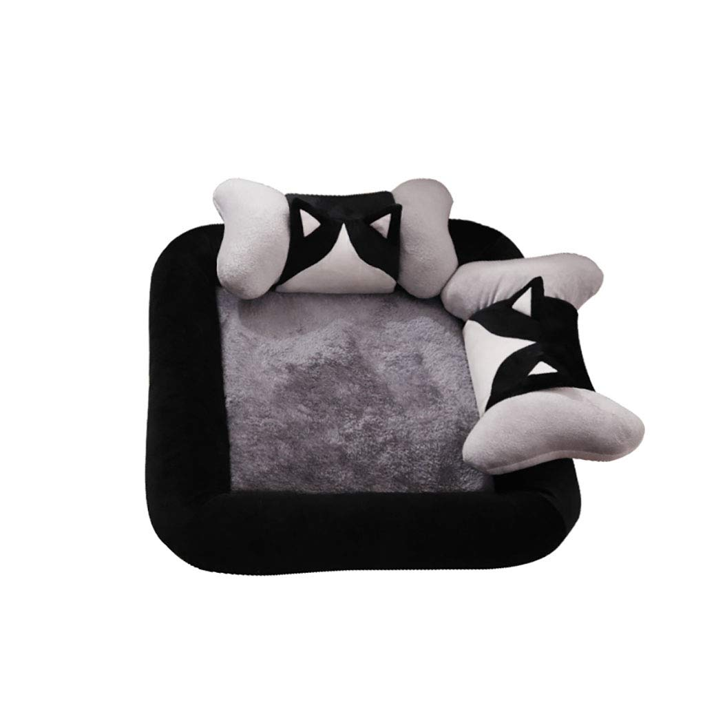 A 6565 A 6565 Pet house Cat nest kennel Small dog Medium dog washable Pet mat Pet nest pet bed Soft comfortable Four seasons available (color   A, Size   65  65)