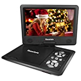9 inch Swivel Screen Portable DVD Player with 5 Hour Built-in Rechargeable Battery,SD Card Slot and USB Port - Black