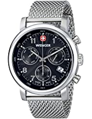 Wenger Mens 01.1043.102 Urban Classic Silver-Tone Chrono Watch with Mesh Bracelet