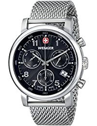"Men's 01.1043.102 ""Urban Classic"" Silver-Tone Chrono Watch with Mesh Bracelet"