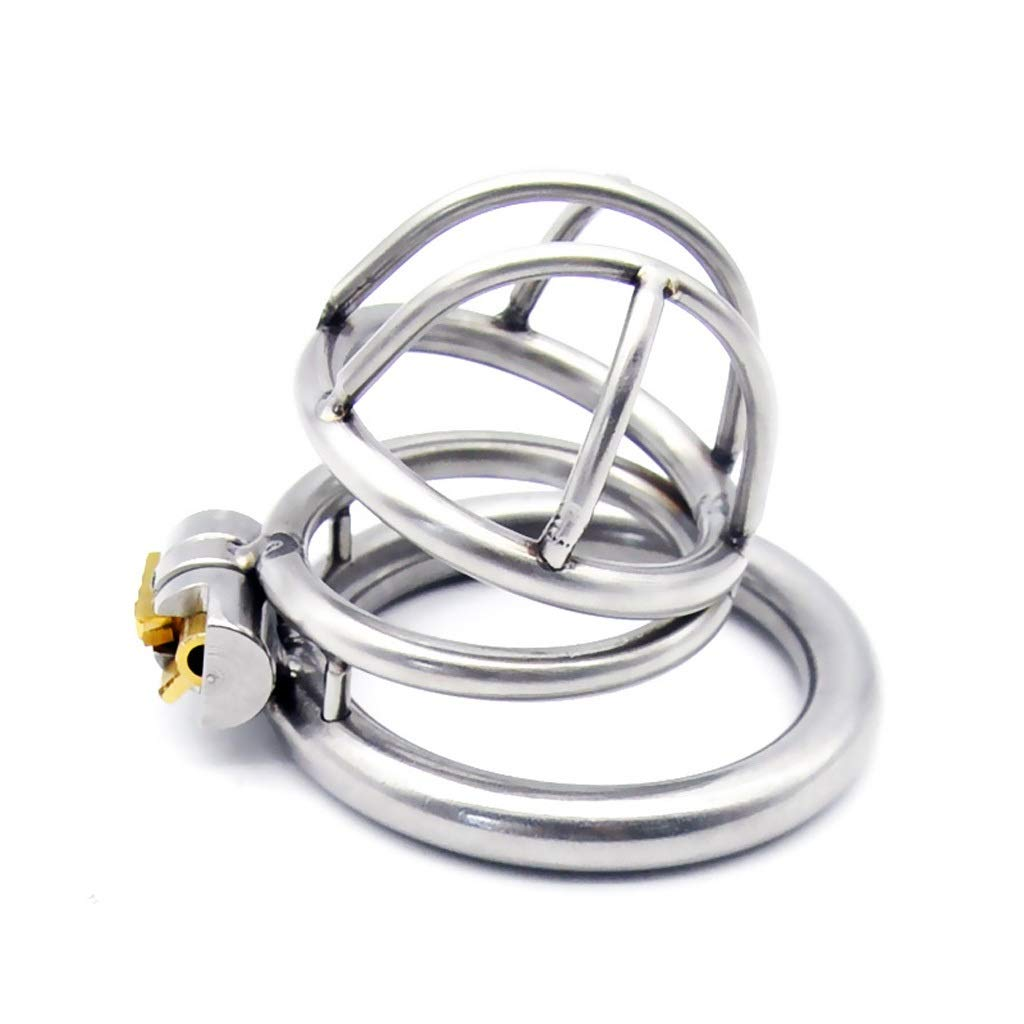 SLH Unique Design Male Stainless Steel Lock Cage Length 4.1cm Inner Diameter 3.5cm