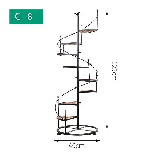 YONGYONG Escalera de Caracol de Hierro Forjado de múltiples Capas ...