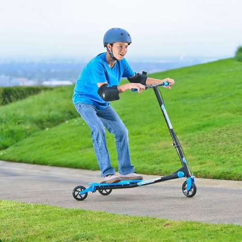 Yvolution YFliker A1 Air Ride On, BLUE/BLACK, One Size by Yvolution (Image #7)