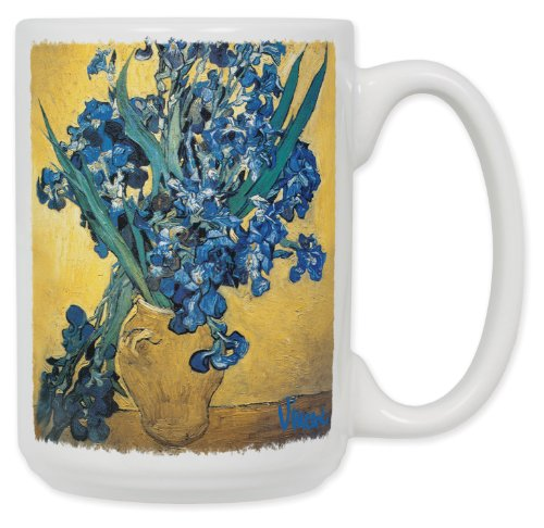 Van Gogh - Vase of Irises 15 Oz. Ceramic Coffee Mug