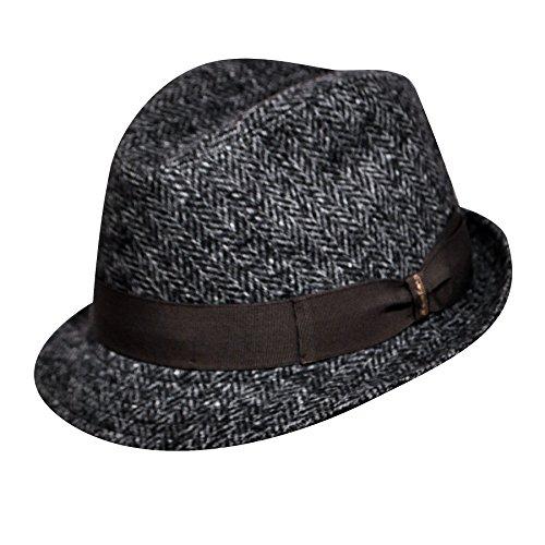 borsalino-male-b36677-wool-tweed-trilby-black-7-5-8
