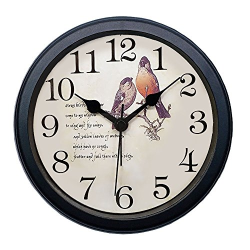 FAMICOZY Silent Wall Clock No Ticking Alarm Table Clock Swee