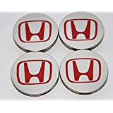 4pcs. Honda CRV Accord Civic Odyssey Element Pilot Fit Center Cap Hub Wheel Caps RED