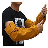 Leather Heat Resistant Welding Arm Sleeves Elastic Cuff Safety Work Spark Resistant Protection Arm Guard