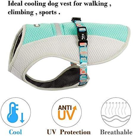 ZJYB Huisdier Koelvest, Hond Koelvest, Reflecterende Vest Hond Jas Koeler Zomer, voor Kleine Medium Grote Honden, L