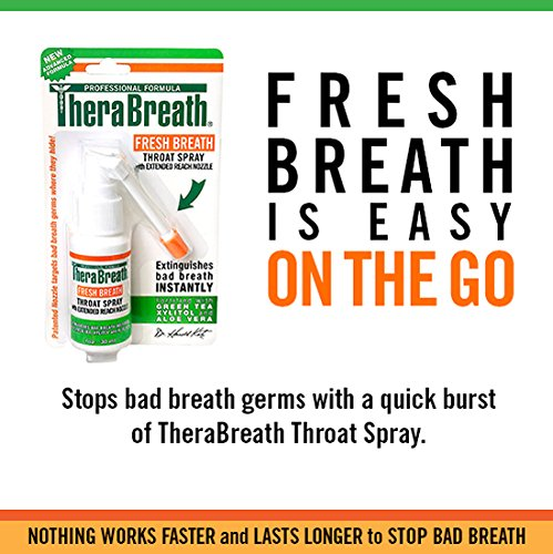 TheraBreath Fresh Breath Spray – Dentist Formulated – Maximum-Strength - Extinguisher Spray – Stops Halitosis – Certified Gluten-Free – Approved for Diabetics – 1 Ounce – Three-Pack by TheraBreath (Image #2)