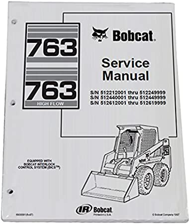 763 bobcat hydraulic schematic amazon com bobcat 763  763h skid steer loader workshop repair  bobcat 763  763h skid steer loader