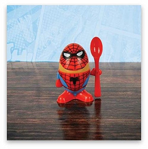 Marvel Comic Spiderman Egg Cup, Multi-Colour, 3-Piece