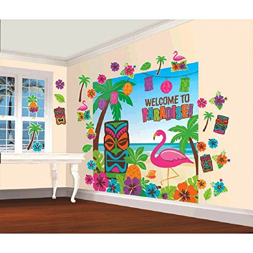 Amscan Luau Party Scene Setters Wall Decorating -