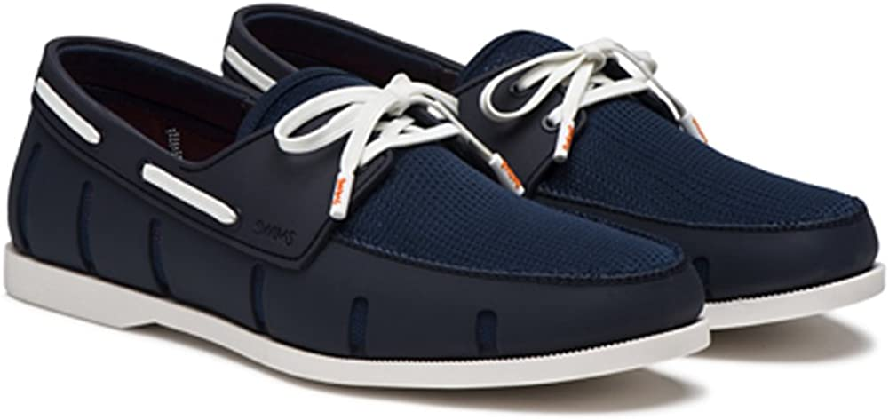 SWIMS Mens Boat Loafer Navy//White Size 11