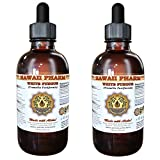 White Fungus Liquid Extract, White Fungus (Tremella Fuciformis) Mushroom Tincture, Herbal Supplement, Hawaii Pharm, Made in USA, 2x4 fl.oz