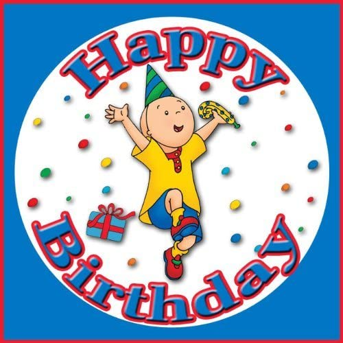 Phenomenal Amazon Com Caillou Happy Birthday Edible Image Frosting Sheet Funny Birthday Cards Online Elaedamsfinfo