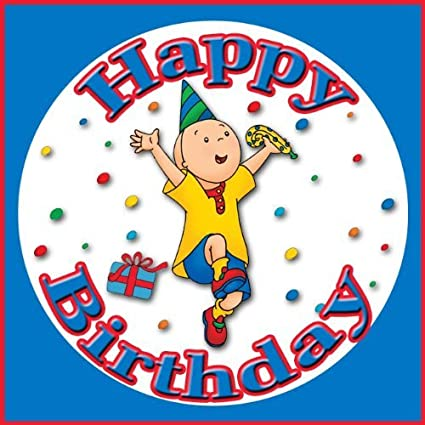 Amazoncom Caillou Happy Birthday Edible Image Frosting Sheet Cake