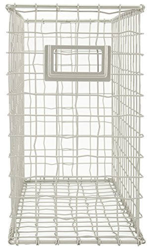 Wired File Basket by Tim Holtz Idea-ology, 13.5 H × 5.75 W × 10.13 D Inches, Silver (Vintage Filler)