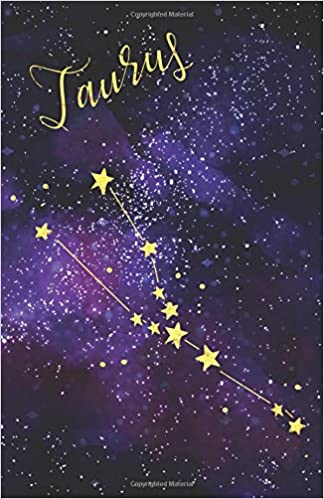 journal notebook zodiac sign taurus constellation 162 lined and numbered pages with index blank journal for journaling writing planning and doodling lined journal volume 11