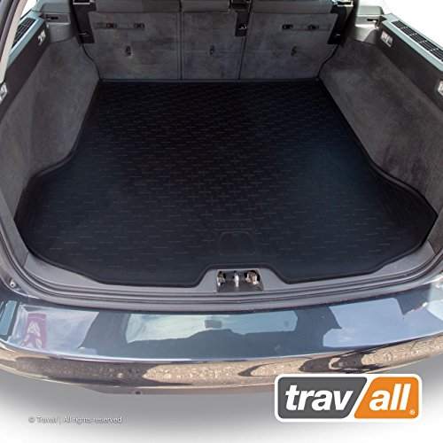 Travall Liner Compatible with Volvo V70 Wagon (2007-2016) and Volvo XC70 (2007-2016) TBM1028 - All-Weather Black Rubber Trunk Mat Liner