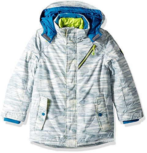 Boys Ski Jacket Coat (Big Chill Big Boys' Board JKT W/Vestee, Greys, 10/12)
