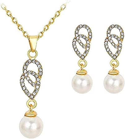 Amazon Com Mersdw Fashion Simple Bride Diamond Earrings Pearl