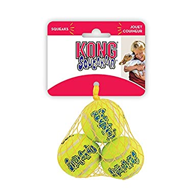 KONG Squeaker Tennis Balls, Small Dog Toy, 3-Pack