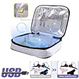Portable UV Sterilizer Bag, Cleaner and UV Light Travel Sanitizer Bag with USB Charged Line, Kills 99.9% of Harmful Substance in 10 min Like Masks/Underwear/Bottle/Toothbrush/Beauty Tools/Jewelry