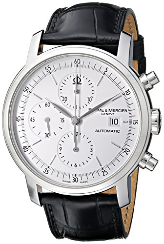 baume-mercier-mens-moa08591-classima-executive-stainless-steel-watch-with-black-band