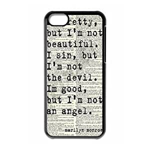 DIY Cover Case with Hard Shell Protection for Iphone 5C case with Marilyn Monroe Quote lxa#902793