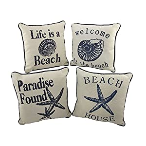 51sk-PjaREL._SS300_ 100+ Coastal Throw Pillows & Beach Throw Pillows