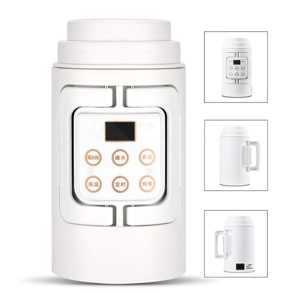 Portable Electric Kettle, Travel Multi-Function Timing Keep Warm Slow Cooker, LED Touch Screen Hot Water Cup, with Intelligent Reservation System for Boiling Water, Cooking Soups, Rice, Noodles