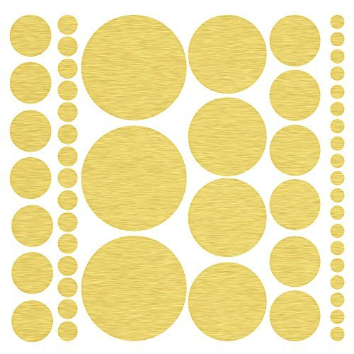 ((317) Assorted Size Gold Polka Dot Decals - Repositionable Peel and Stick Circle Wall Decals for Nursery, Kids Room, Mirrors, and Doors)