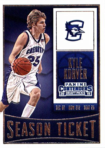 Kyle Korver basketball card (Creighton Blue Jays) 2015 Panini Draft Picks #62